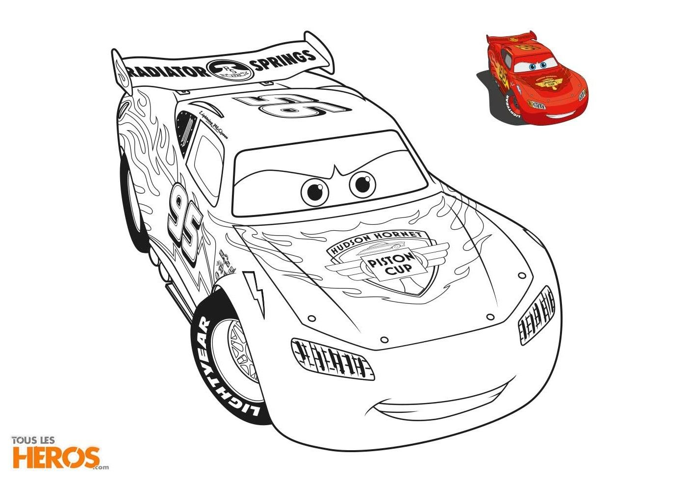 Coloriage Flash.Coloriage Flash Mcqueen Et Martin A Imprimer Gembl Mega Coloring