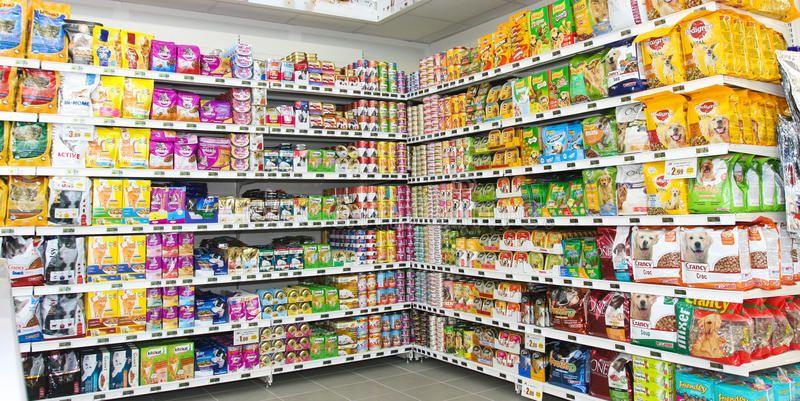 Tienda De Alimento Para Animales Estanteria Unidad Del Estante