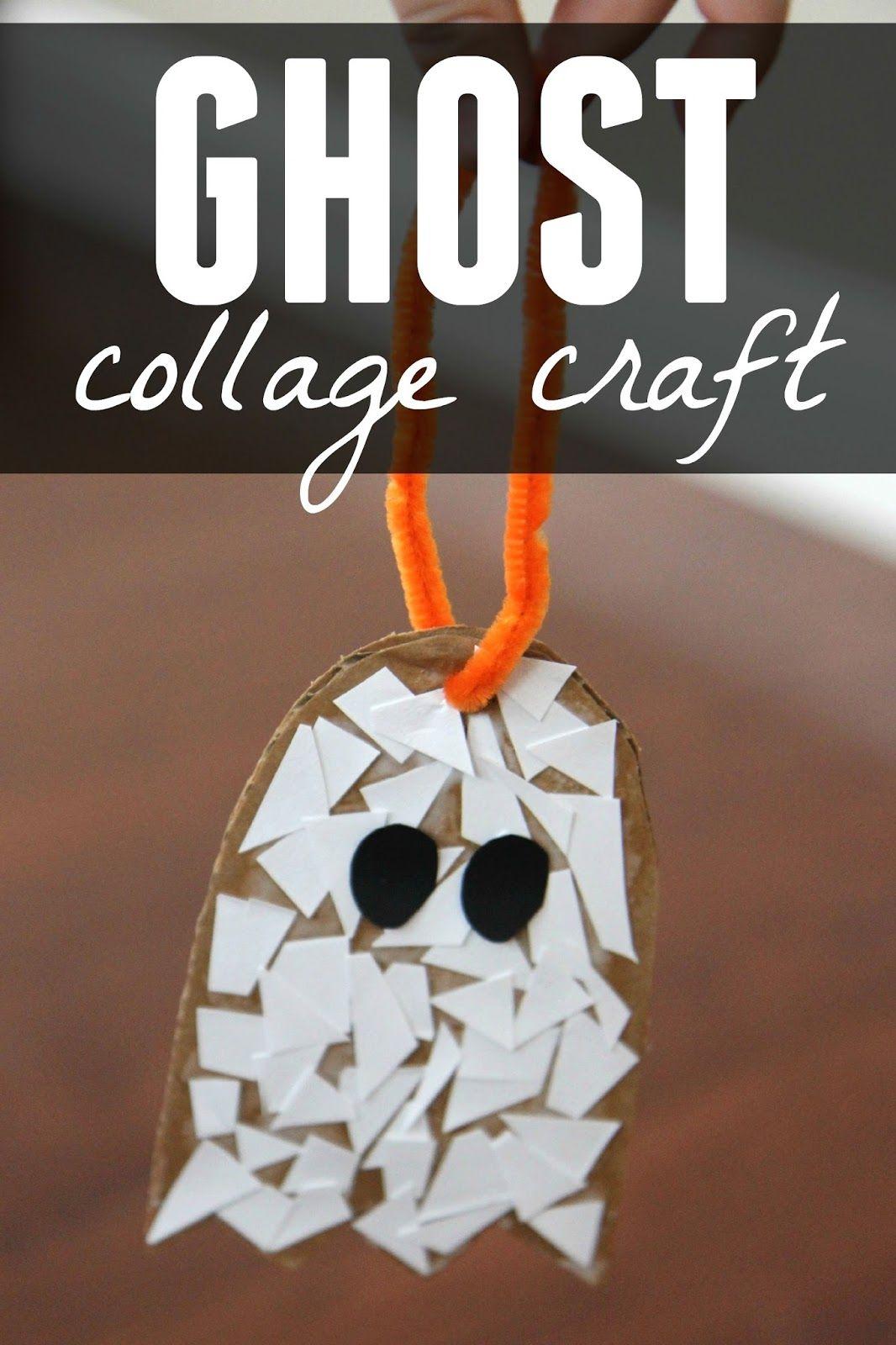 Ghost Paper Scrap Craft For Preschoolers