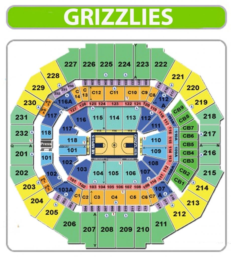 The Most Amazing Fedex Forum Seating Chart Grizzlies Di 2020