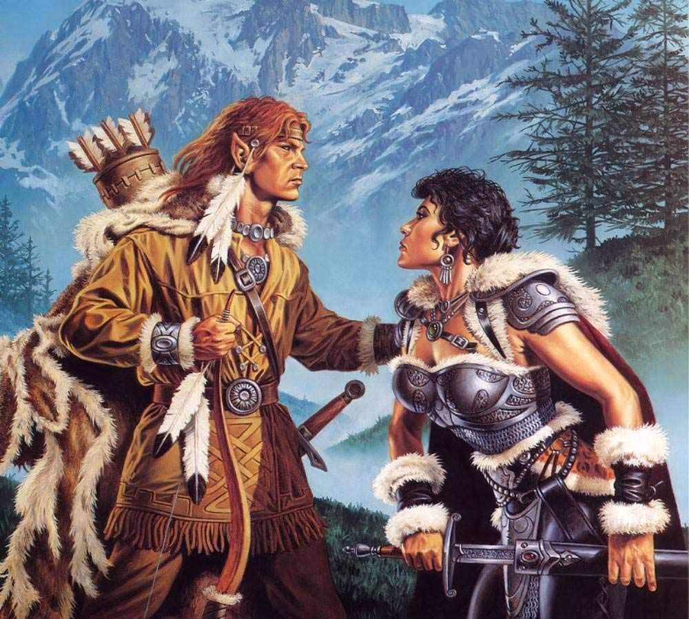 Clyde Caldwell - Steel And Atone Kit & Tanis - Dragonlance