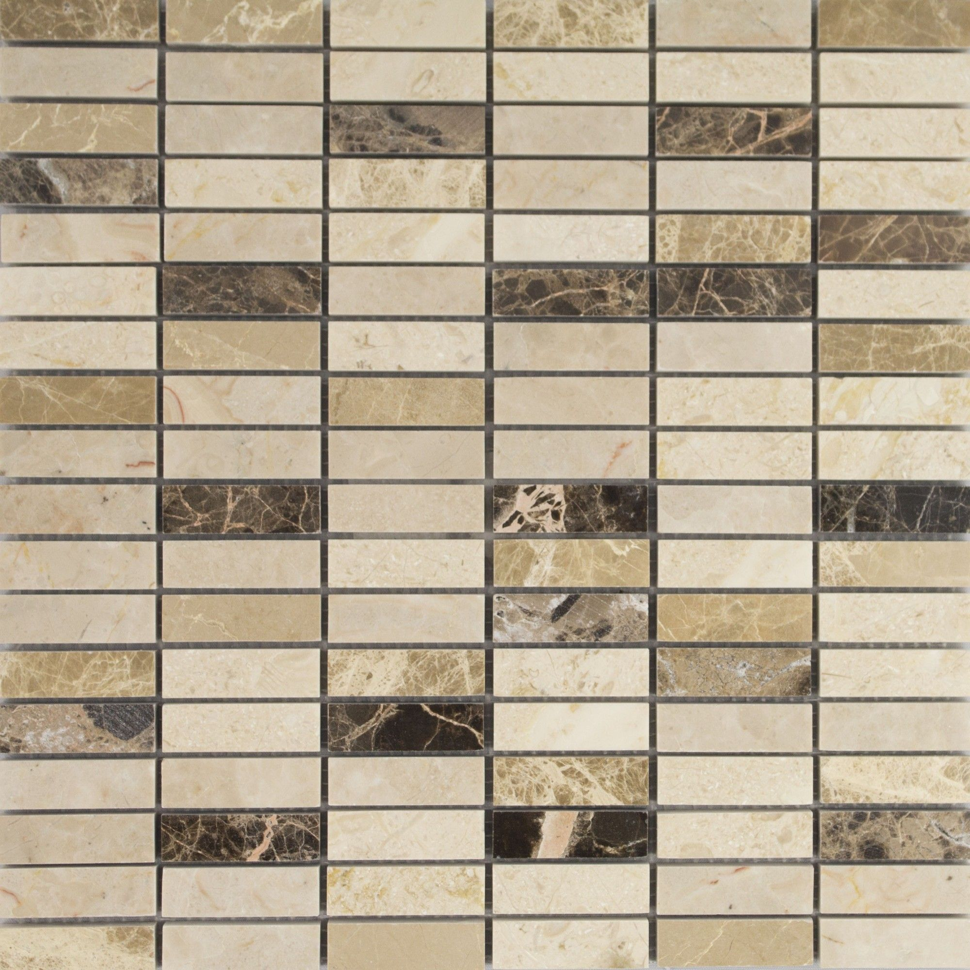 Expresso marble mosaic 48x15 marble wall floor tiles expresso marble mosaic from tile mountain only per tile or per sqm order a free cut sample dispatched today receive your tiles tomorrow dailygadgetfo Gallery
