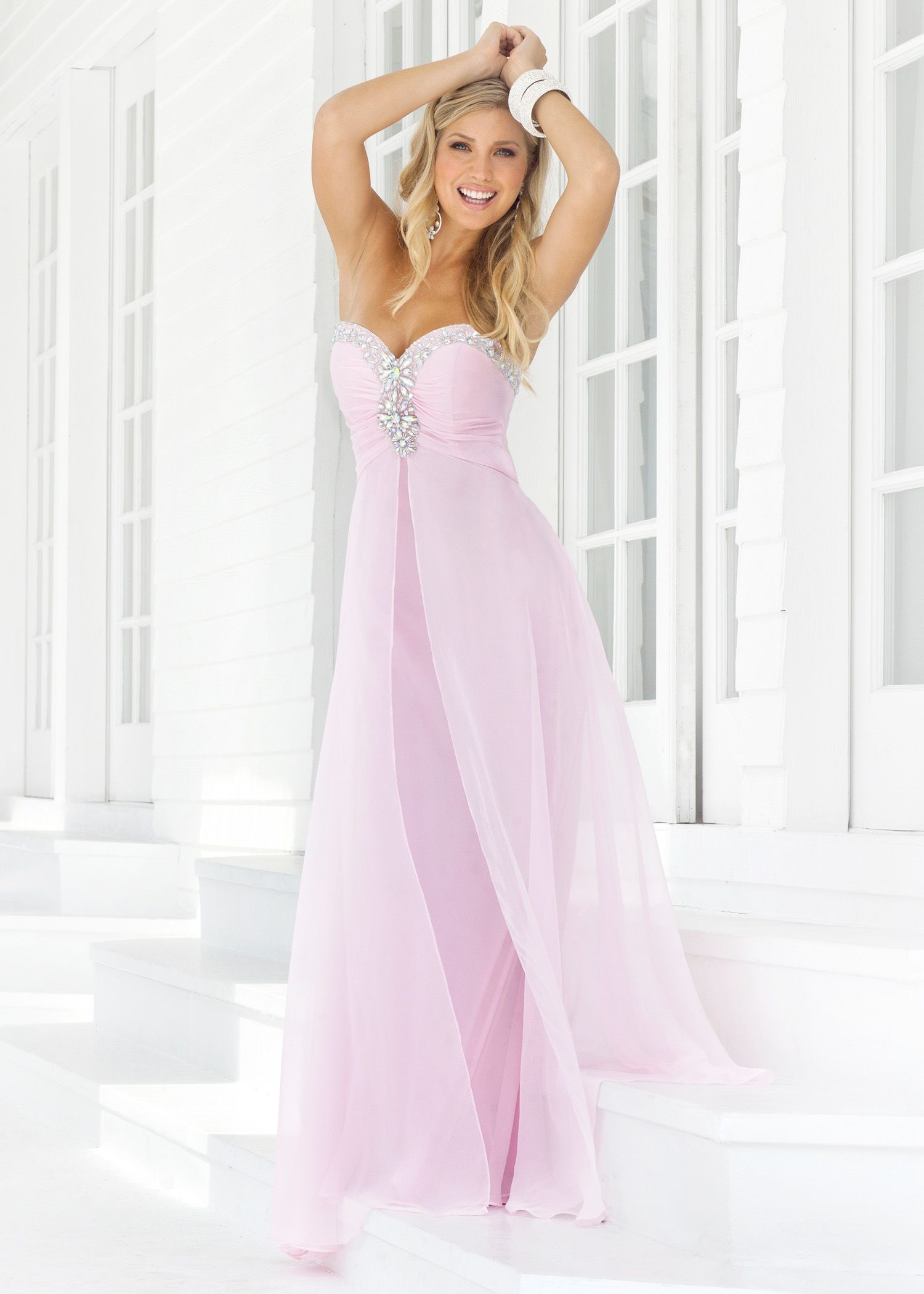 blush prom 9388 | Blush Prom 9388 Crystal Pink Long Strapless Prom ...