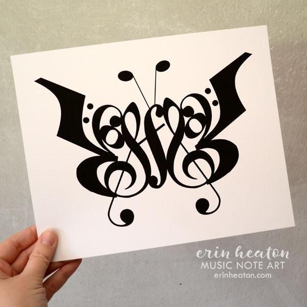 f9c522cb77f Butterfly Music Art Print