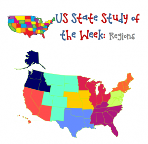 US State Study of the Week Weekly Series FREE Regions Pack | Enchanted Homeschooling Mom | Enchanted Homeschooling Mom