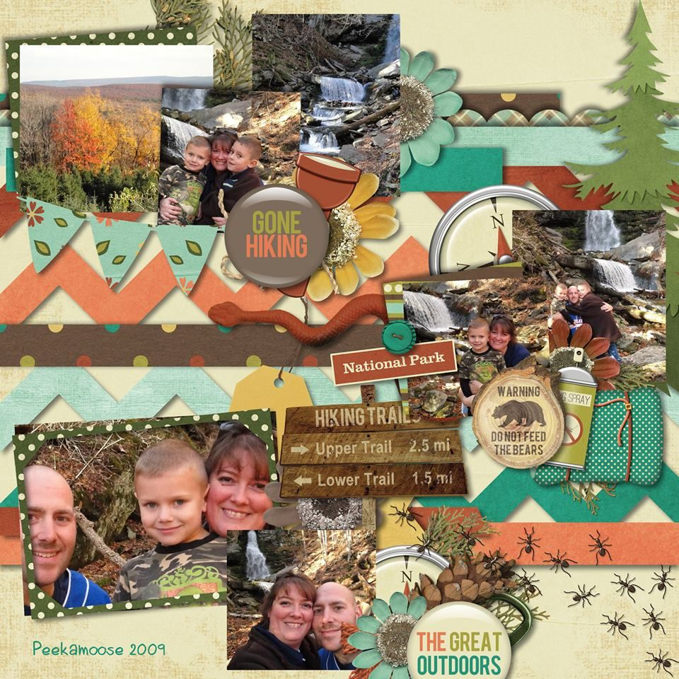 Scrapbook ideas adventure - Digital Layout By Teresa Carlucci Scrapbook Layouts