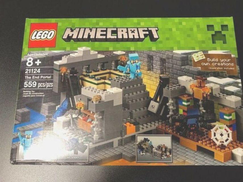 559 Pieces New Sealed Last One In Stock LEGO Minecraft The End Portal 21124