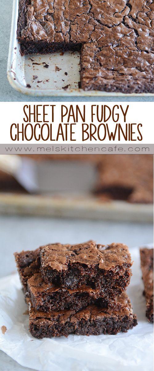 Sheet Pan Fudgy Chocolate Brownies Recipe Brownie Recipes