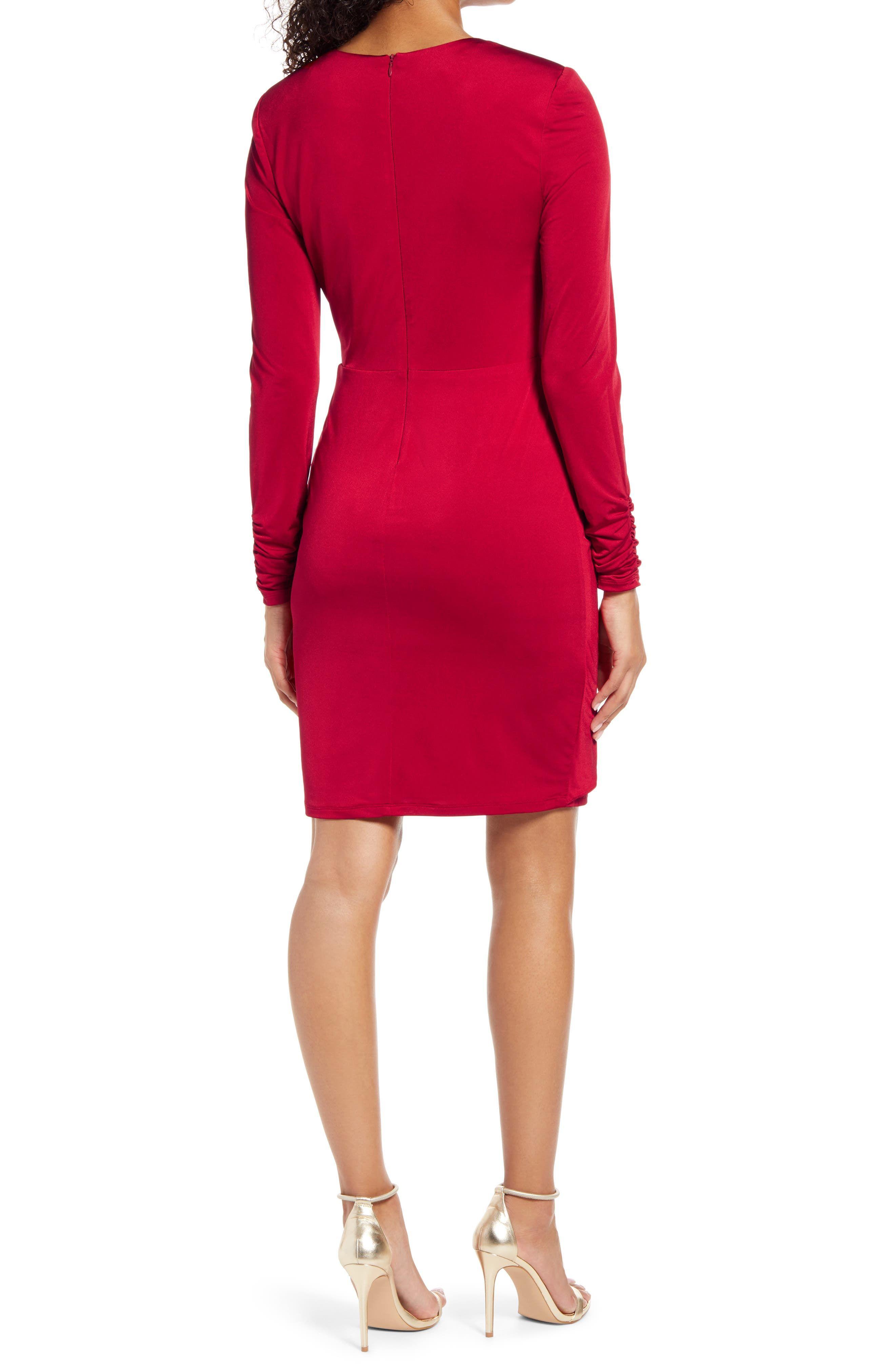 Vince Camuto Wrap Front Long Sleeve Cocktail Dress Nordstrom In 2021 Slinky Dress Long Sleeve Cocktail Dress Dresses [ 4048 x 2640 Pixel ]