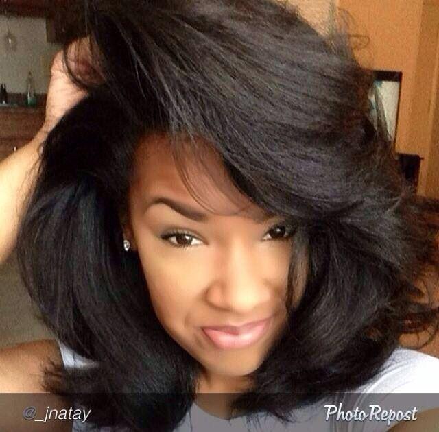 Shoulder Length Natural Hair Straightened