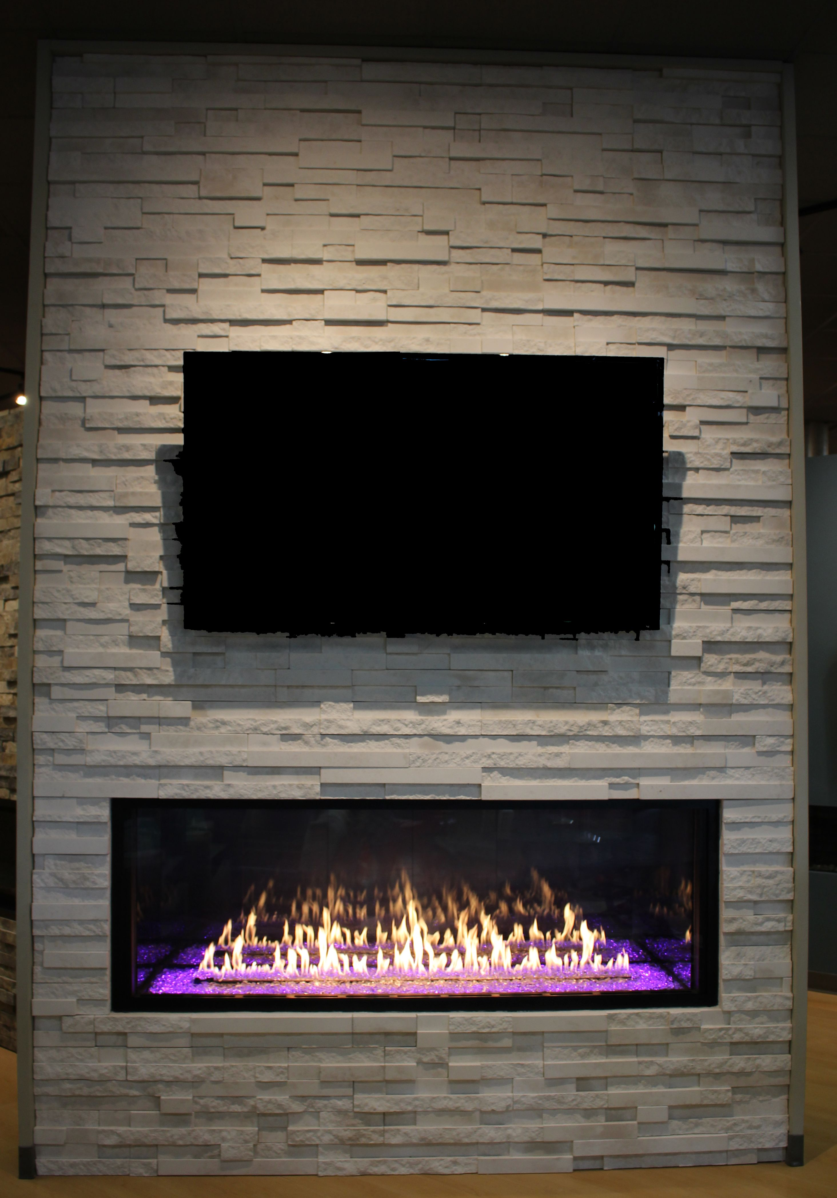 Our Linear Gas Fireplace Added A Pop To Our Showroom It Can To