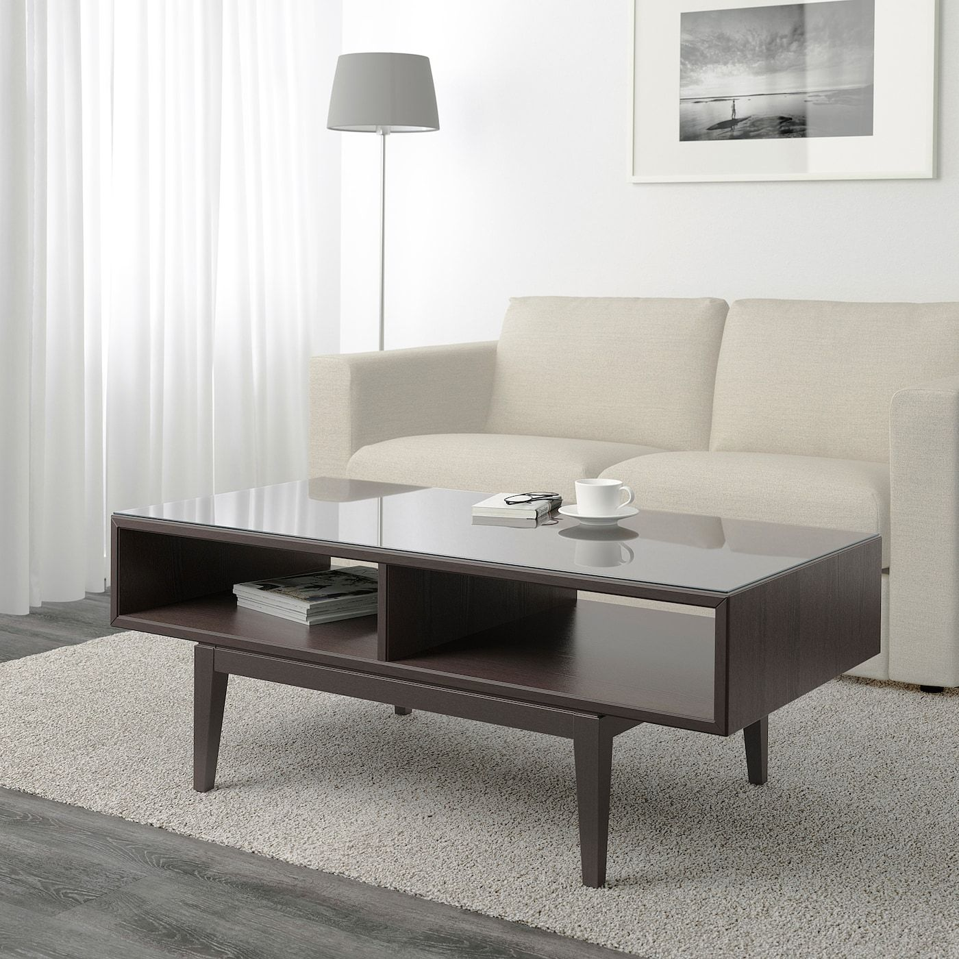 Ikea Couchtisch Mit Glas Ikea - RegissÖr Coffee Table Brown, Glass | Couchtisch Braun, Wohnzimmertische, Ikea Couchtisch