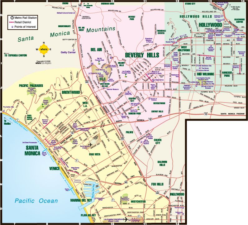 Tourist Map West Hollywood Google Search Santa Monica Map
