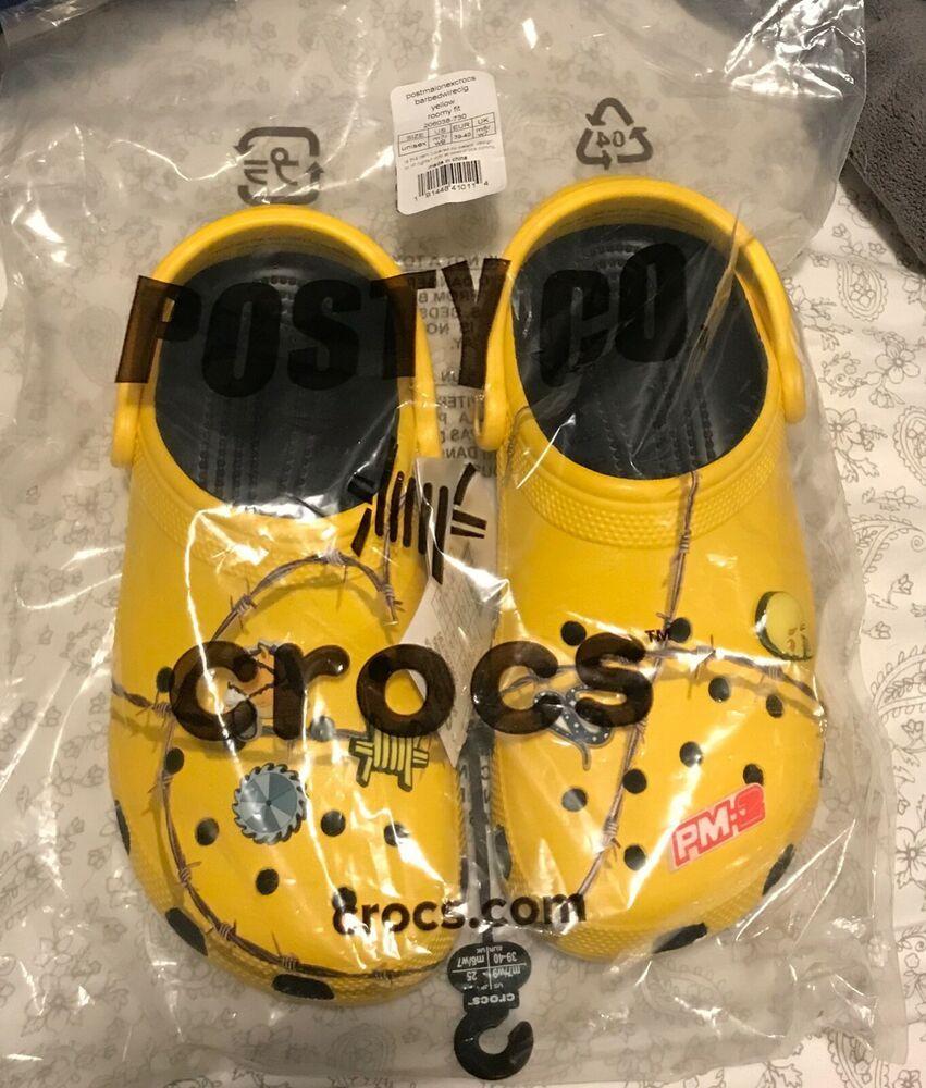 New Pm2 Post Malone Crocs Size 7/9 With Jibbitz #fashion
