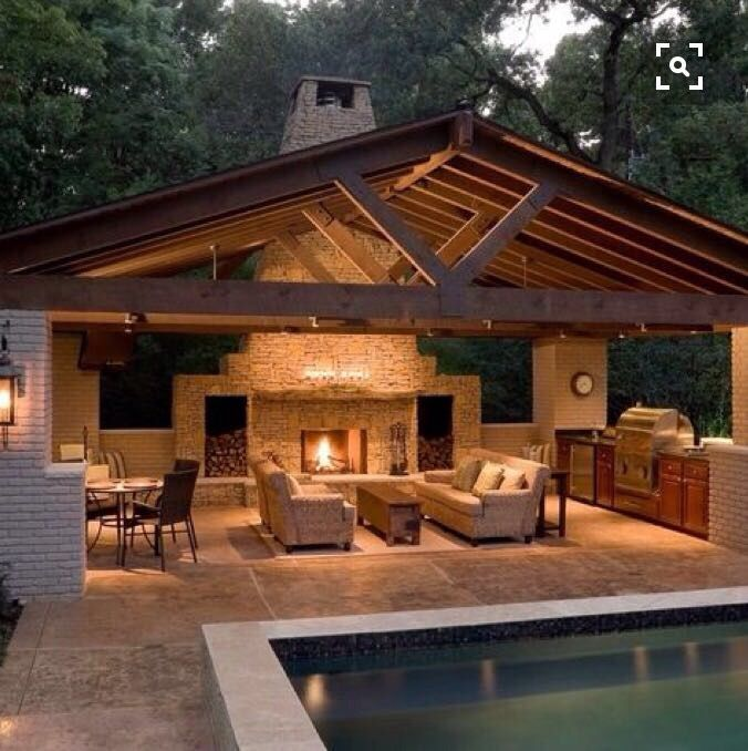 1000 Ideas About Simple Outdoor Kitchen On Pinterest: Pin By Karen Bentley On Outside Fireplace In 2018
