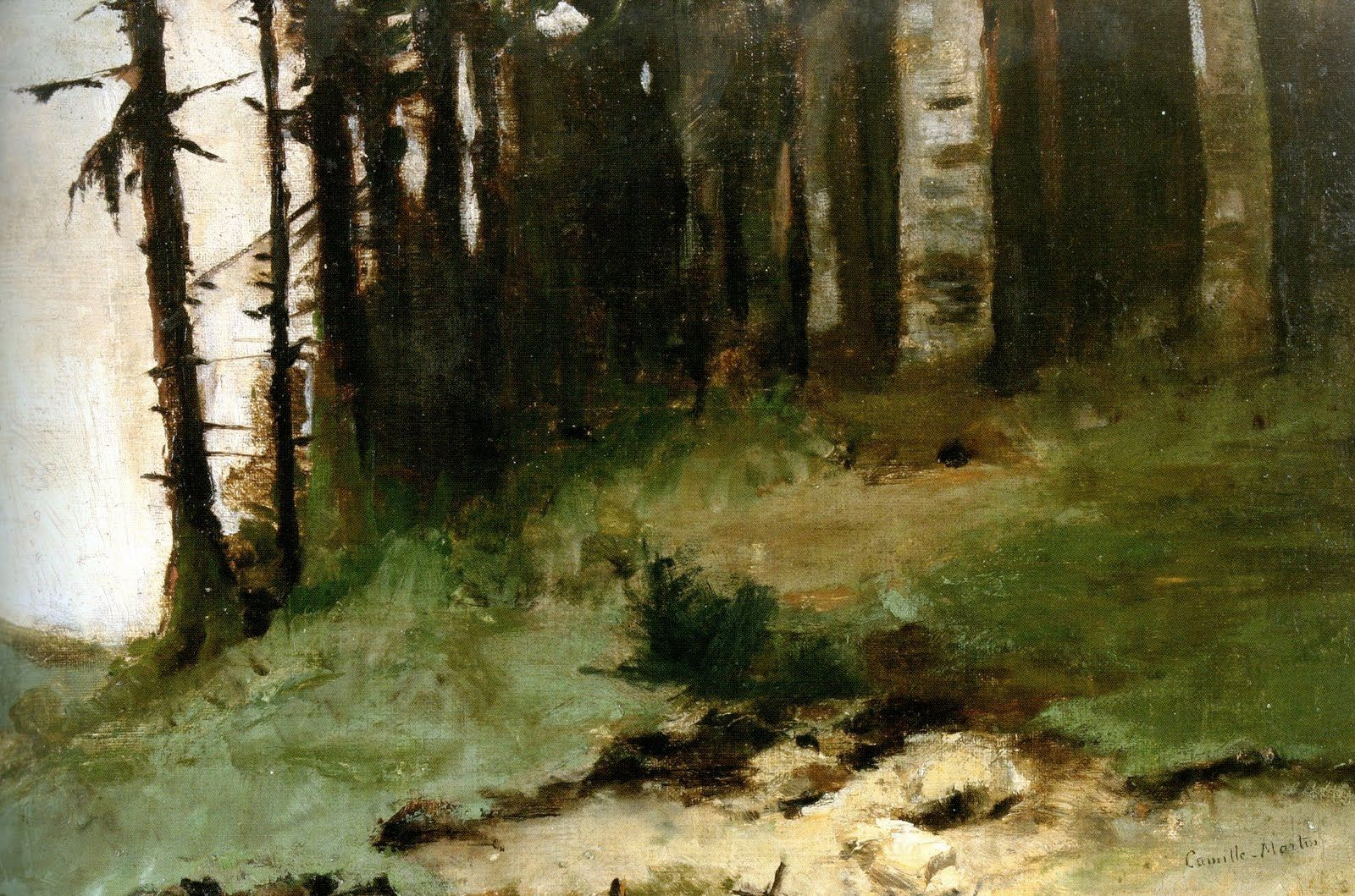 Camille Martin (1861-1898) - The Edge of the Forest. Oil on Canvas. Nancy, France. Circa 1885-1890.