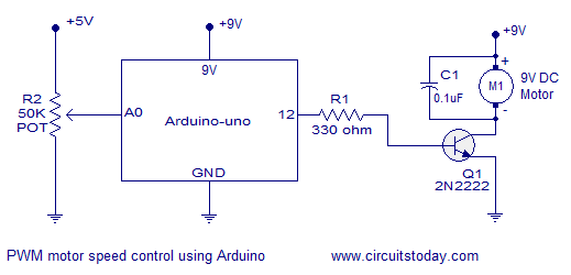 PWM Control using Arduino – Learn to Control DC Motor Speed