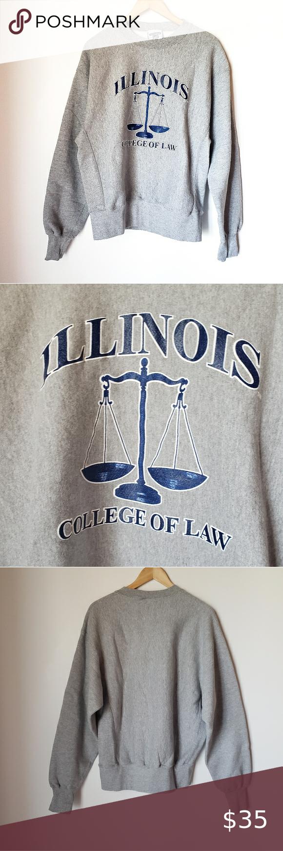 Illinois College Of Law College Crew Neck Sweater In 2020 Crew Neck Sweater Sweaters School Sweatshirts [ 1740 x 580 Pixel ]