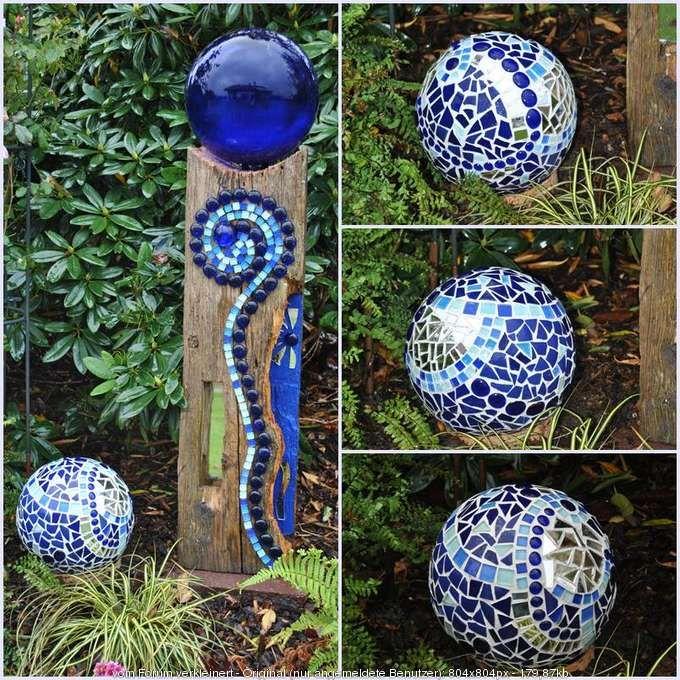 0 680 680 garten pinterest mosaik holz kreativ for Kugeln gartendekoration