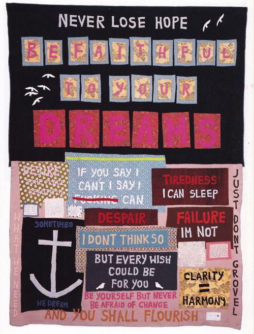 Never Lose Hope | Anchors Away!! | Pinterest | Tracey emin, Artist ... : tracey emin quilts - Adamdwight.com
