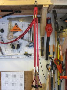 diy trx straps and the garage workout  no equipment