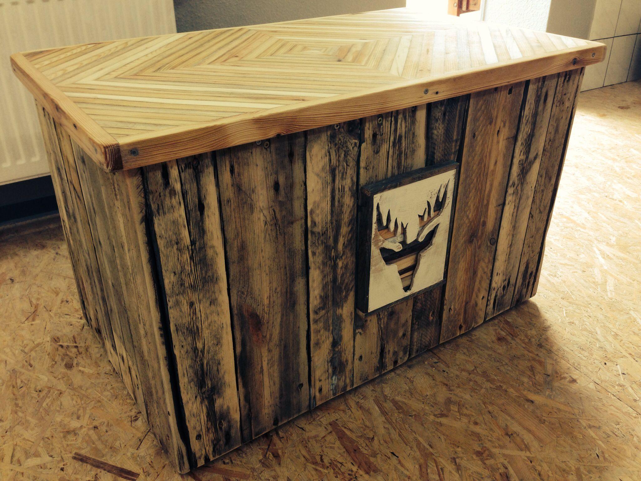 Truhe für Kissen (Gartenmöbel) aus Palettenholz | Habe ich mal