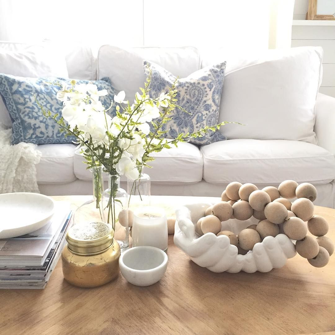 My Diy wooden beads add some texture to my coffee table decor via ...