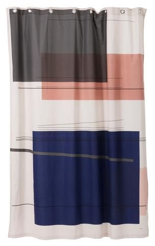 Color Block Shower Curtain Design By Ferm Living Cool Shower