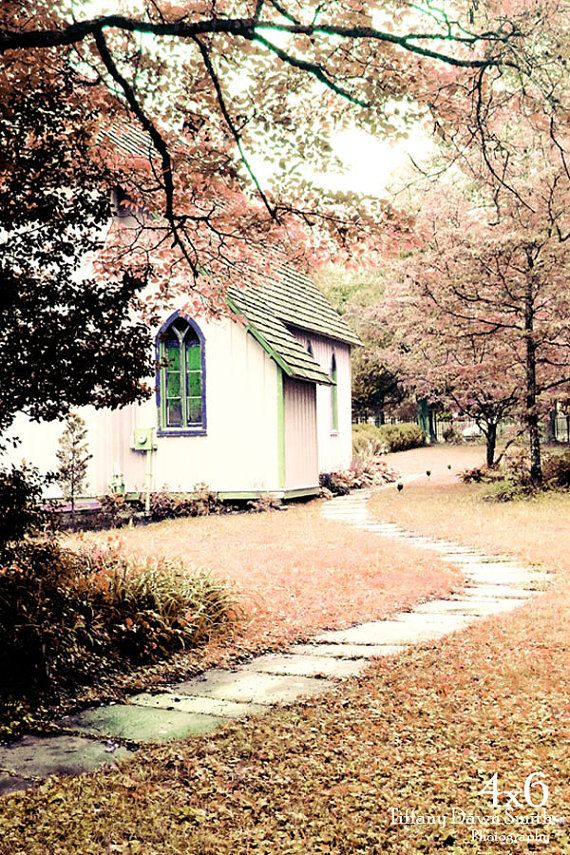 Fine Art Photograph  Pink Church chapel spring by TiffanyDawnSmith, $10.00