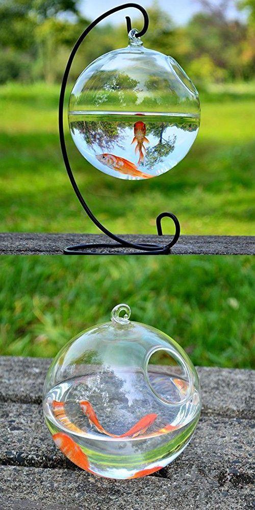 Hanging Glass Vase Fish Tank Transparent Spherical Fishbowl Vases