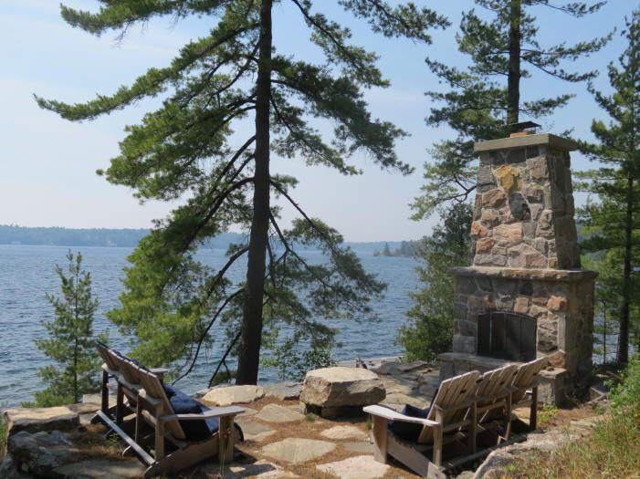 Waterfront Landscape | Cottage outdoor, Backyard ... on Waterfront Backyard Ideas id=13660