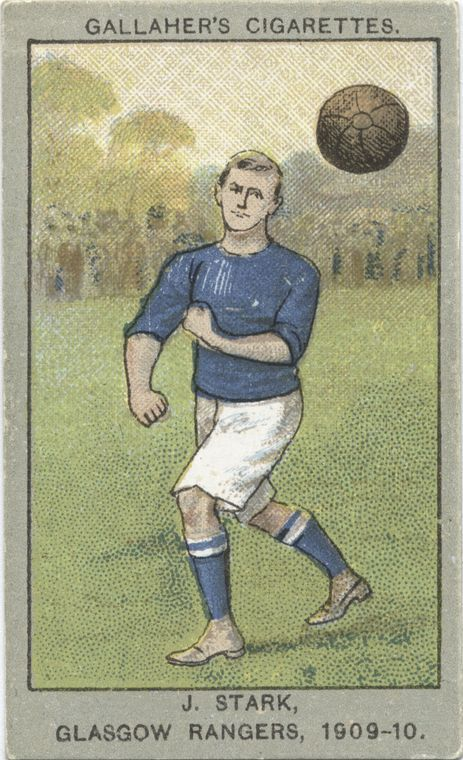 J. Stark, Glasgow Rangers, 1909-10. From New York Public Library Digital Collections.