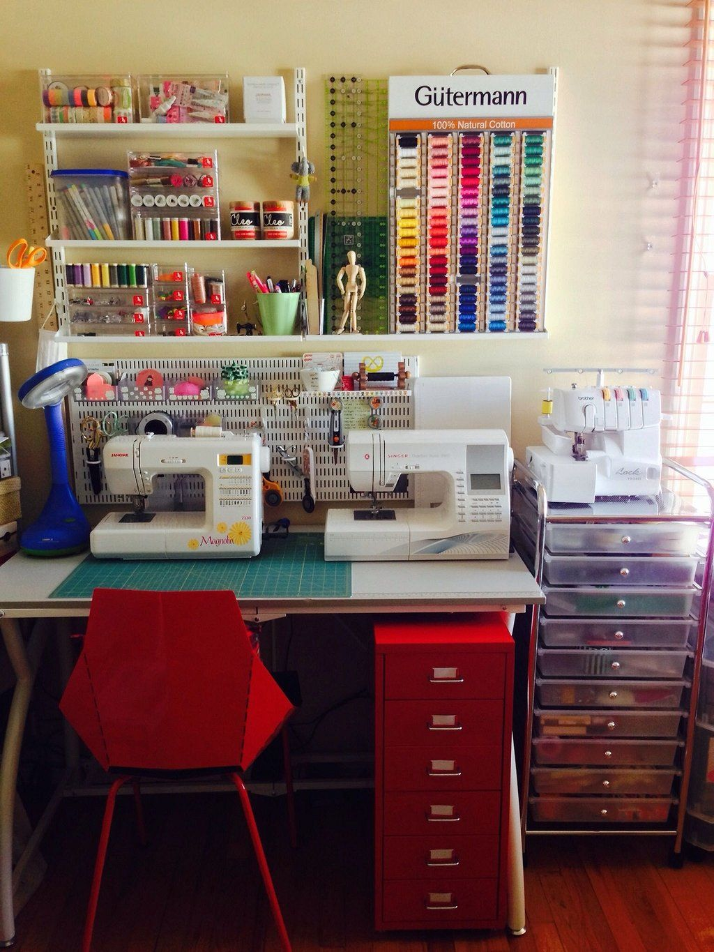 Creative Small Space Craft Room Organization Ideas images