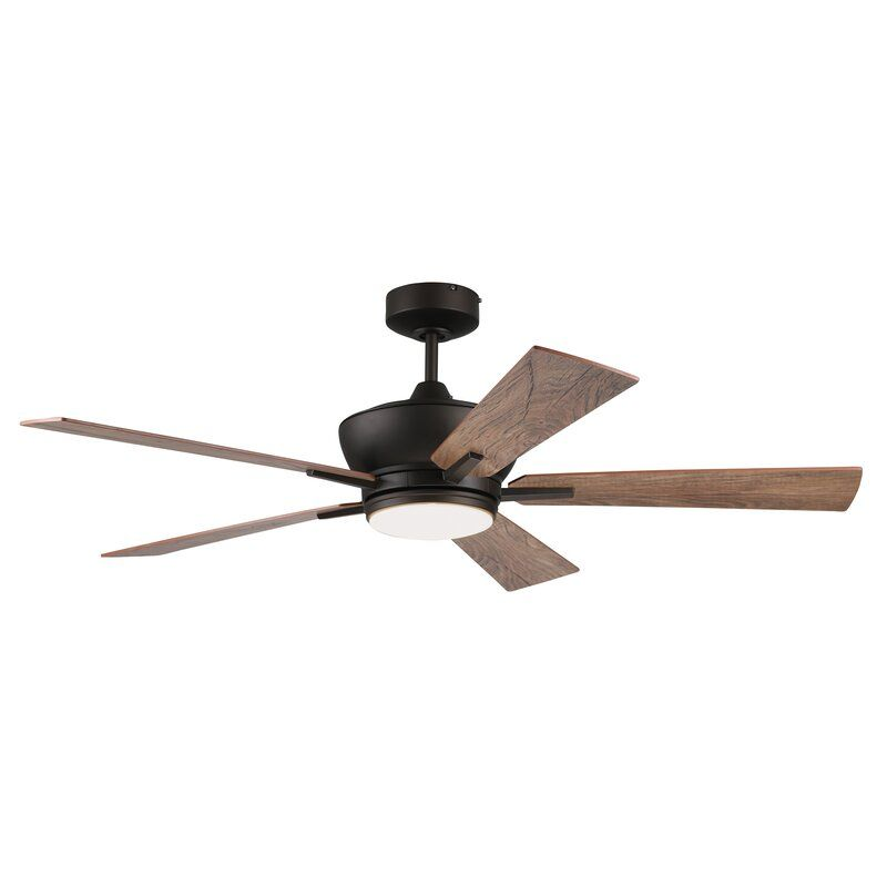 Foundry Select 52 Georgetown Tri Mount 5 Blade Ceiling Fan With Remote Light Kit Included Wayfair Ceiling Fan With Light Fan Light Ceiling Fan