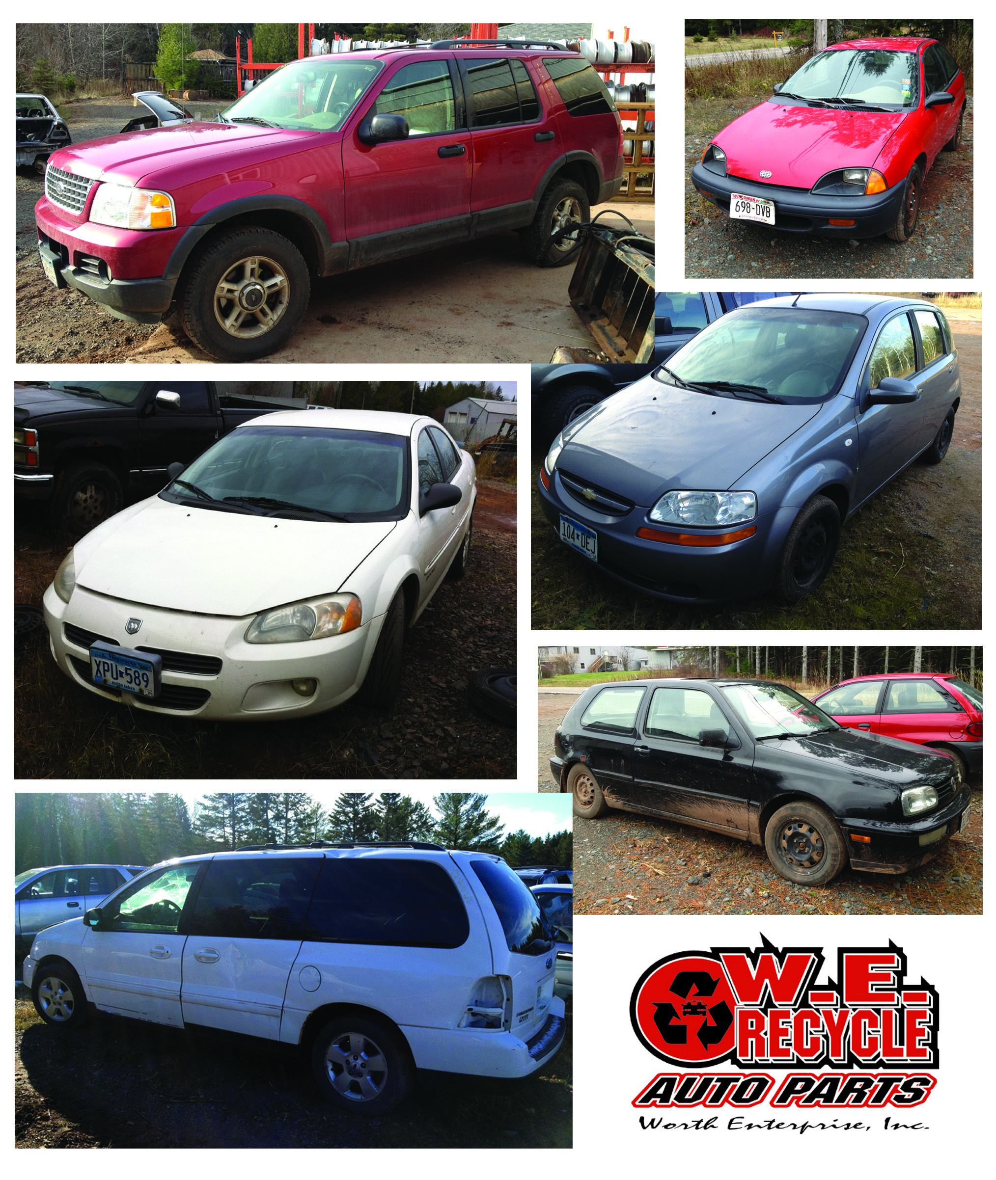 New Inventory 2003 Ford Explorer 1996 Geo Metro 2001 Dodge Stratus 2008 Chevy Aveo 2005 Ford Freestar 199 Dodge Stratus Used Car Parts Ford Explorer