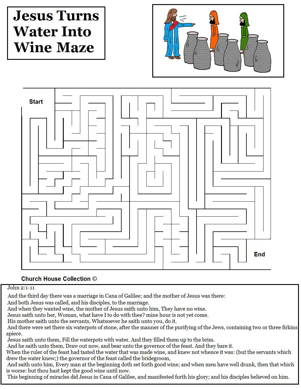 Coloring Pages For Jesus Turning Water Into Wine : Water into wine activities jesus turns
