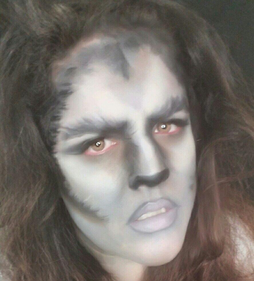 halloween, makeup, werewolf, tutorial, look, beauty, face paint ...