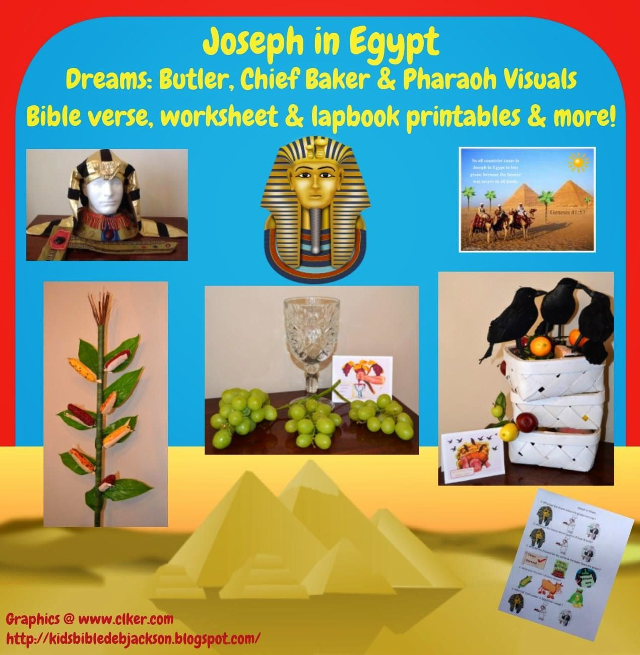 Bible Fun For Kids Genesis Joseph In Prison Pharaohs Dreams Including The Butler