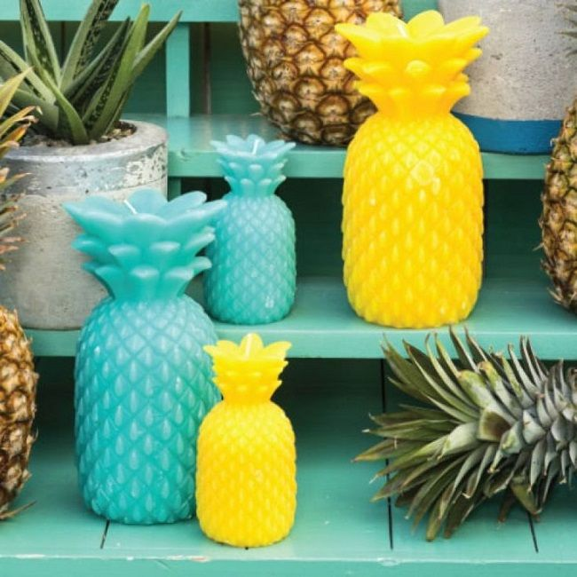 pineapple home accessories candles | 4 home | pinterest