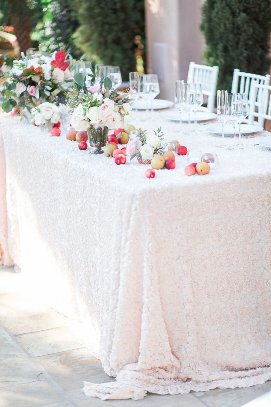 Intimate Pastel Santa Barbara Private Estate Wedding | Linen rentals ...