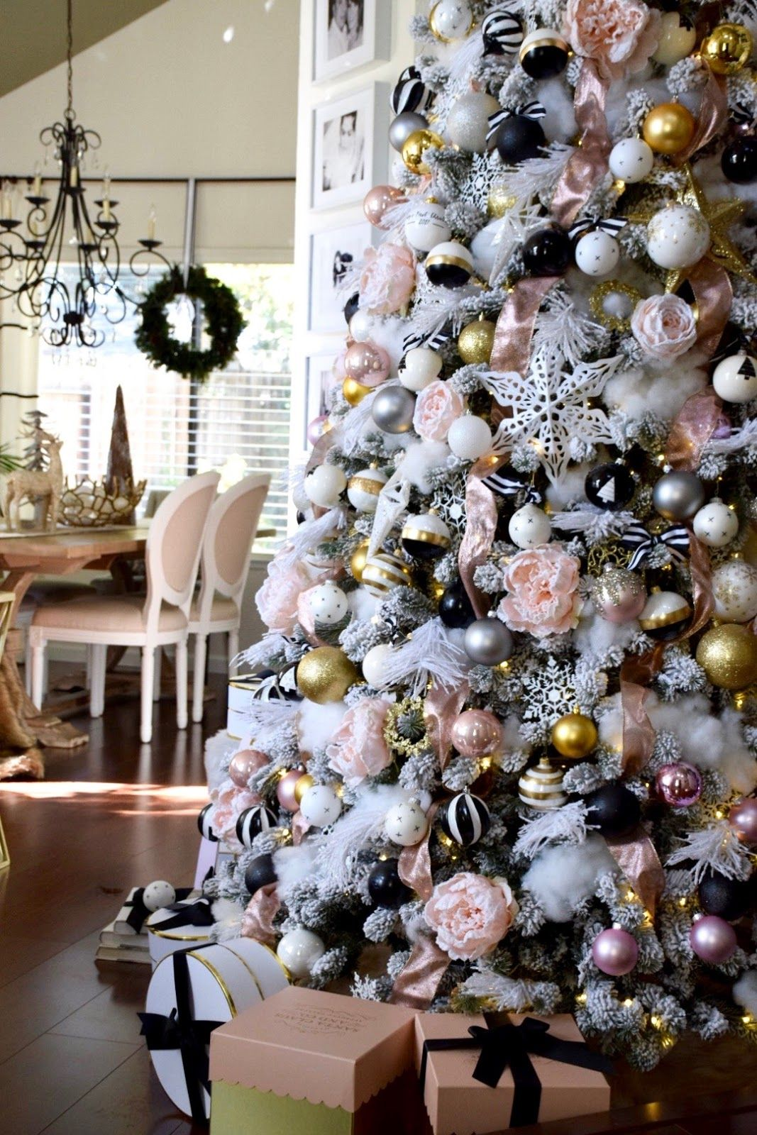 Home And Fabulous Black Christmas Decorations White Christmas Trees Christmas Tree Decorations
