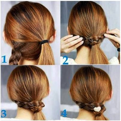 Regular ponytails are so passé! Add a classy twist to a simple hairstyle in 4 steps. | Diy ...