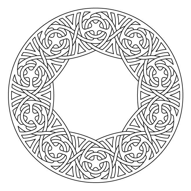 Celtic Knot Work Lute Rosette By Peter Mulkers Celtic Symbols Celtic Patterns Mandala Coloring Pages