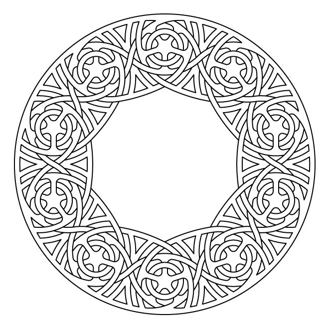 Celtic Knot Work Lute Rosette By Peter Mulkers Geometric