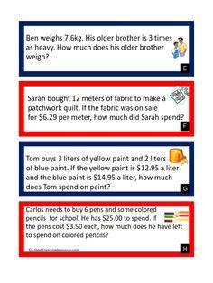 math worksheet : 5 nbt 7  multiplying decimals word problems  free download  : Dividing Decimals Word Problems