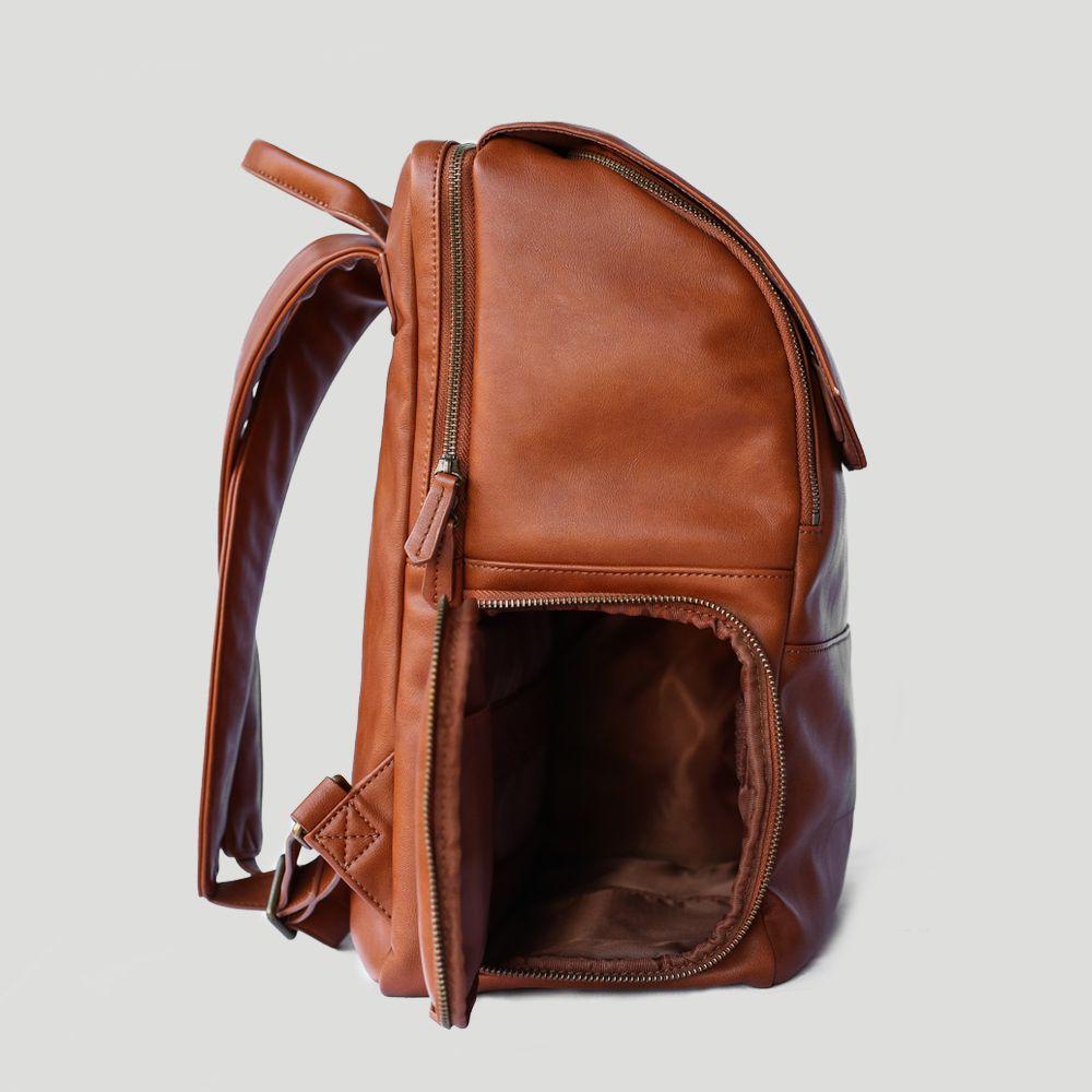 Minimalist Penny Fashion Backpacks Leather Vegan Leather Backpack Leather