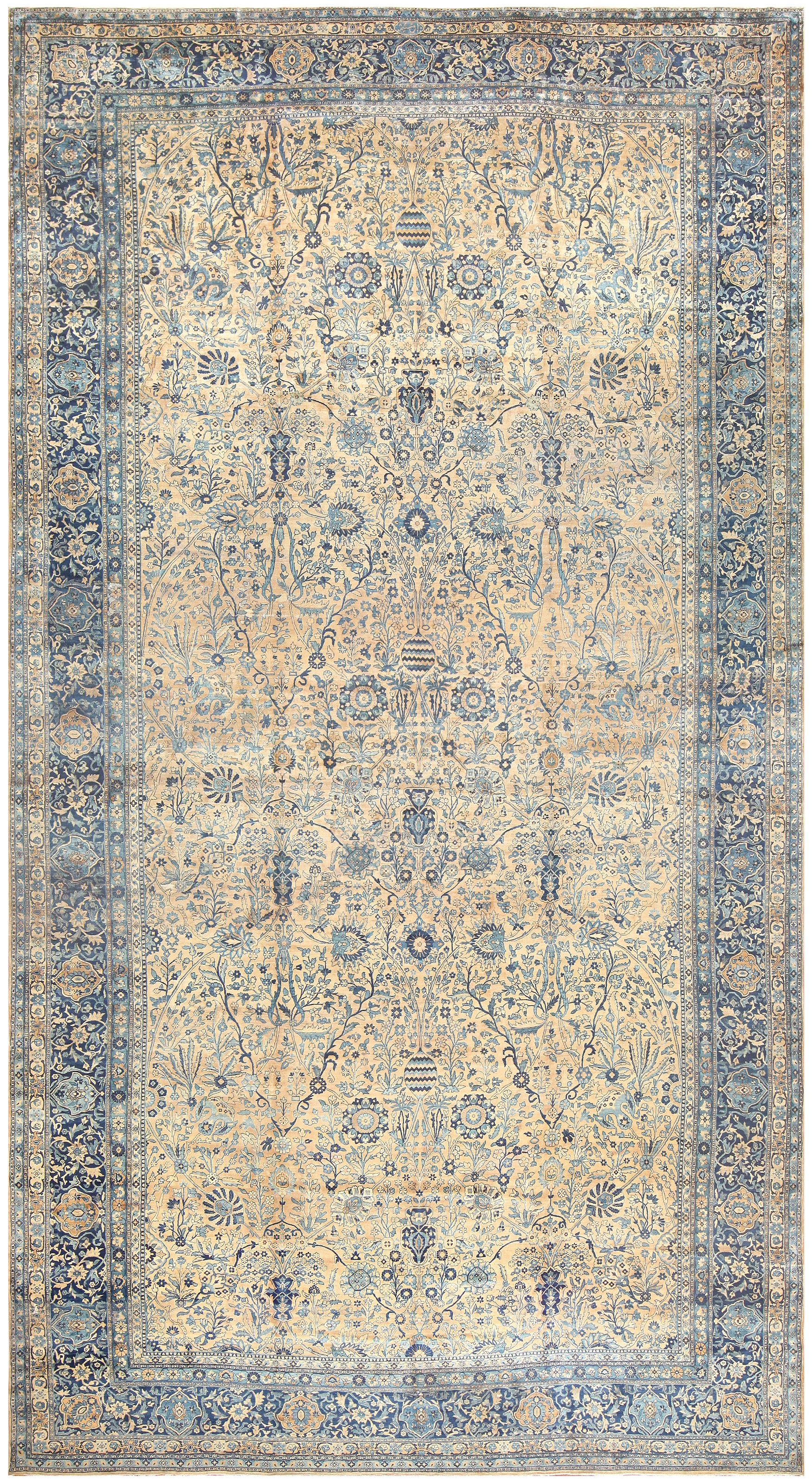 Antique Oversized Persian Kerman Carpet 50113 In 2019