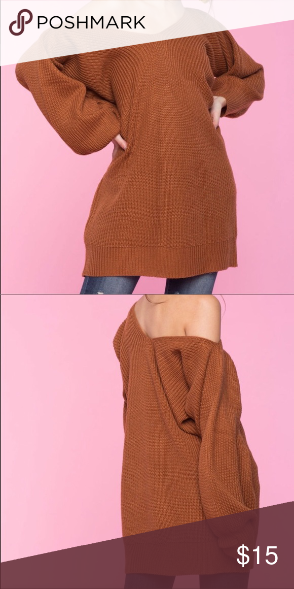 30c862ae686 Oversized off the shoulder sweater Rust orange oversized off the shoulder  sweater. a gaci Sweaters V-Necks