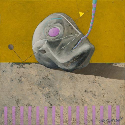 Head, oil on canvas, 46x46 cm, 2015