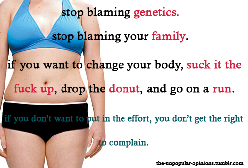 """If you don't want to put in the effort, you don't get the right to complain.""  True of fitness, and of life..."